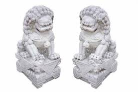 pictures of foo dogs pair of antique white marble foo dogs c 1850