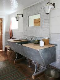 Houzz Bathroom Vanity by Upcycled And One Of A Kind Bathroom Vanities Diy Trough Sink