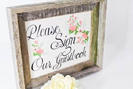 wedding guest book sign handdrawn wedding printables ruffled