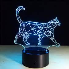 t駘騅ision pour chambre cool animale lumineuse 3d vision marche cat veilleuse pour enfants