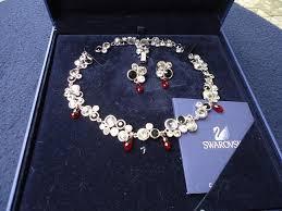 swarovski necklace blue stone images Swarovski crystal necklace and earrings set fashion clothing