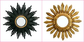 decorating make your wall more beautiful with gold sunburst mirror