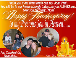 thanksgiving memories poem i love you john paul miss you so much happy thanksgiving in