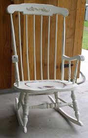 Old Rocking Chair On Porch White Shabby Rocking Chair 295 00 Via Etsy I U0027m Going To