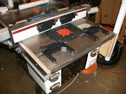 Table Saw Router Table Cast Iron Extension Table For Table Saw Router Setup