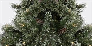 cheap artificial trees pre lit blue tinsel