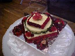 wedding cake u2013 carrot and red velvet layer with cream cheese icing