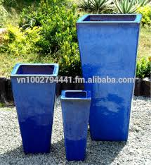 wholesale tall tapered square planters outdoor glazed pots