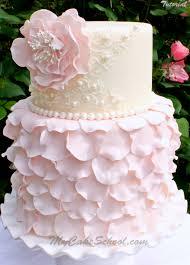 elegant fondant petal cake a cake decorating video tutorial