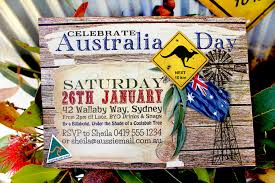 australia day invitations and decorations