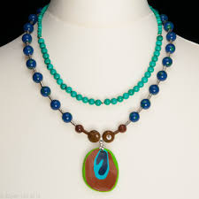 gemstone beaded necklace images Peacock gemstone bead necklace exquisite handmade exquisite jpeg