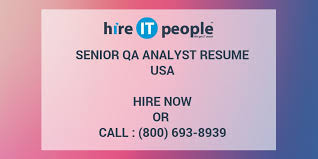 Quality Analyst Resume Senior Qa Analyst Resume Hire It People We Get It Done