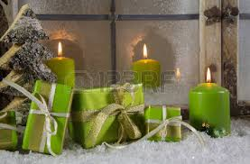 Christmas Decorations Candle In Window by Atmospheric And Romantic Christmas Window Decoration With Red