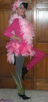 pink flamingo lawn ornament costume contest at costume