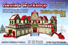 Large Animated Christmas Decorations by Second Life Marketplace Santa U0027s Workshop Set Animated