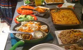 around the world dinner cuisine great company duke
