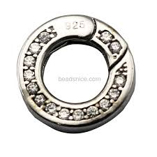 sterling bracelet clasp images Wholesale 925 sterling silver spring rings clasps for pearl JPG