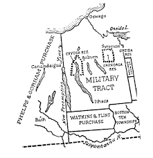 Ithaca Ny Map New York State Military Tract Maps