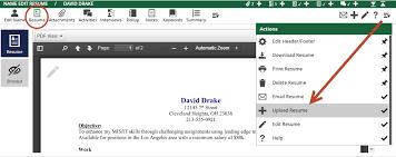 resume uploader upload a resume pcrecruiter learning center