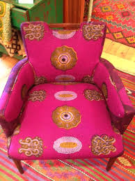 Printed Fabric Armchairs African Chair Frumpy Chairs Get A Tribal Fabric Makeover