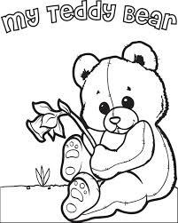 free printable teddy bear coloring kids