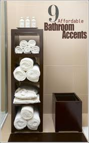 bathroom old fashioned wooden made bathroom towel storage for