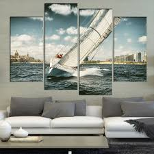Art Decoration For Home Compare Prices On Yacht Painting Online Shopping Buy Low Price