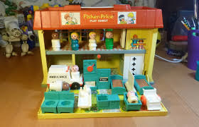 Fisher Price Doll House Furniture Fisher Price Little People Children U0027s Hospital Play Family Vintage