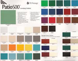 Advanced Awning Company Color Charts Aaa Awning Co Inc