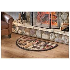 Fireproof Outdoor Rugs Wildlife Moose Hearth Rug Resistant