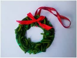 how to make wreath pasta ornament
