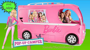 kids barbie jeep barbie pop up camper 2015 unboxing and tour barbie dolls life in