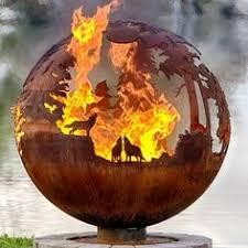Fire Pit Globe by The Athletes U0027 Village Fire Pit Globe Hammacher Schlemmer Yard