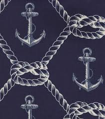 nautical fabric anchors home decor boat final pinterest