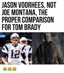 Jason Voorhees Memes - jason voorhees not joe montana the proper comparison for tom brady