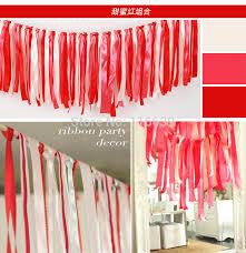 personalized wedding ribbon aliexpress buy 1m 2m wedding party ribbon curtain backdrop