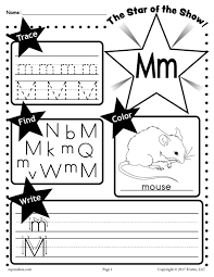 free letter m worksheet tracing coloring writing u0026 more