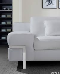 White Leather Sofa Set Divani Casa Clef Modern White Leather Sofa Set