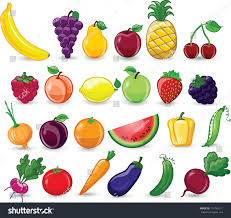 cartoon vegetables fruits stock vector 124165111 shutterstock