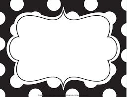 Name Style Design by Chalkboard U0026 Polka Dot Name Tags Schoolgirl Style