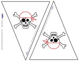 Printable Flag Small Printable Skull Flags