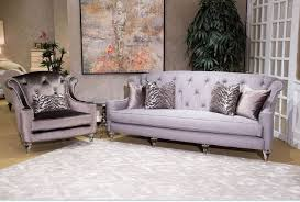 Michael Amini Living Room Furniture Adele Tufted Sofa Clear With Crystals By Michael Amini