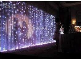 Led Light Curtains Wedding Background Light Curtain Lamp Christmas Lamp Festival Lamp