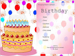charming birthday invitation card template free 32 about