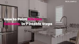 painting kitchen cabinets how to paint kitchen cabinets in 7 doable steps