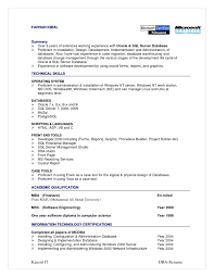 Resume Sample Unix Administrator by Pl Sql Developer Sample Resume Sql Sample Resume Database