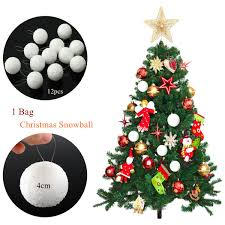 tree balls 12pcs 4cm snowball ornaments