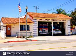 This Small House by The Santa Paula Fire Department House With Two Engines In This