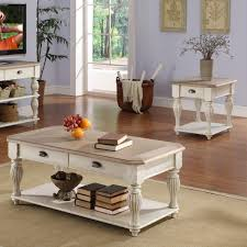 riverside coventry two tone rectangular coffee table set hayneedle