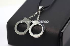 s day m m s new fashion jewelry stainless steel handcuffs choker pendant